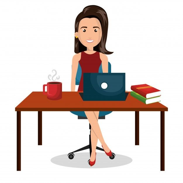 Escritorio De Trabajo De Oficina De Empr Premium Vector Freepik Vector Negocios Cafe Ordenador Mujer Dibujos Animados Logos Retro Diseno De Negocio