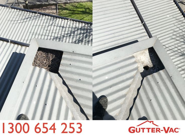 Before and after from Gutter-Vac Tasmania! What an amazing difference.