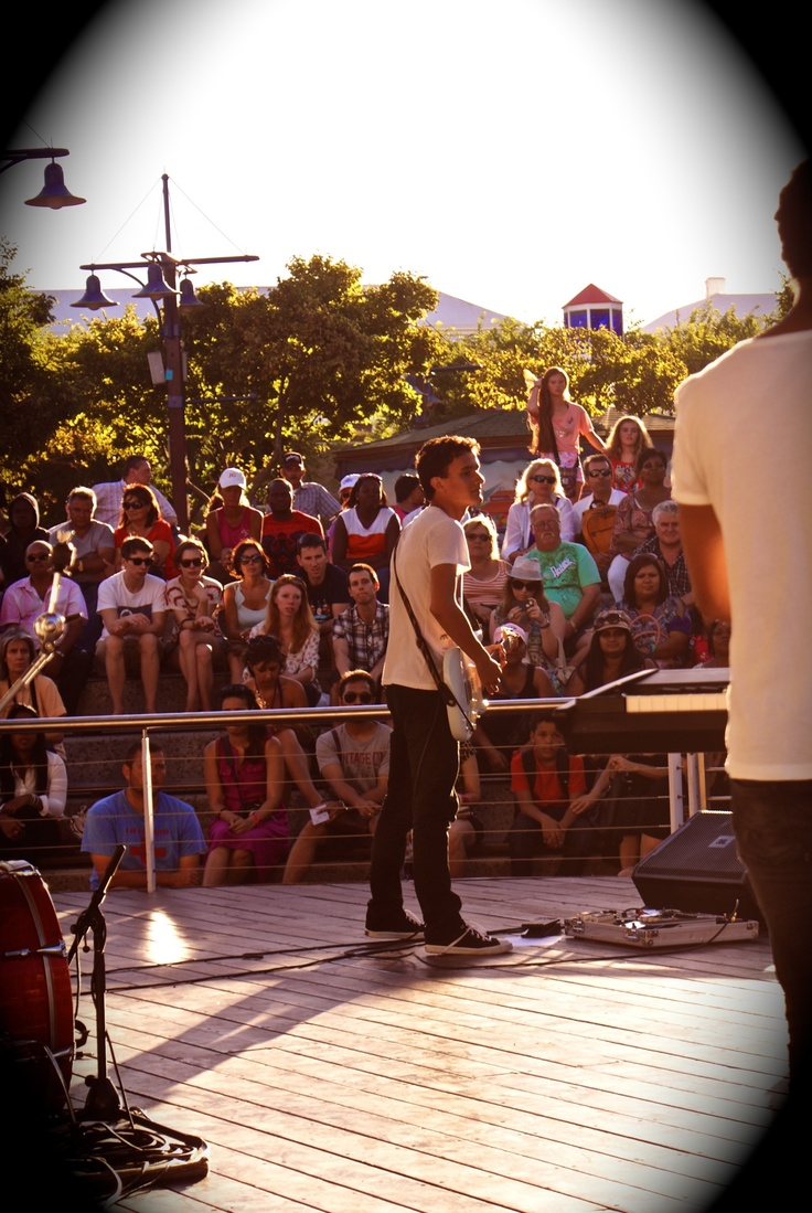 Chris Lainis of Stanford performing live at the VnA Waterfront in Cape Town South Africa