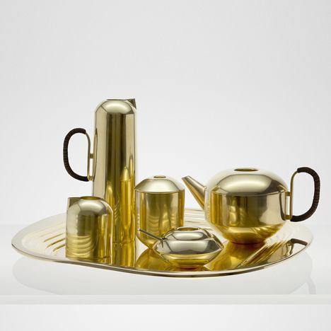Form Tea Set made of brass<br /> by Tom Dixon