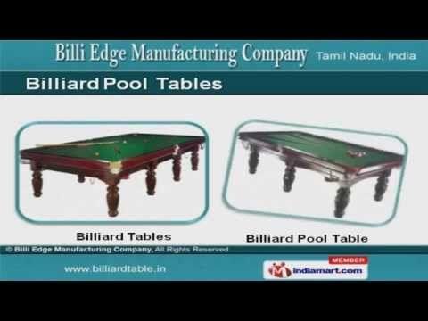 Billiard, Pool Tables & Accessories by Billi Edge Manufacturing Company, Coimbatore - http://pooltabletoday.com/billiard-pool-tables-accessories-by-billi-edge-manufacturing-company-coimbatore/