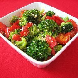 Stir-Fried Sesame Green Capsicum and Broccoli @ allrecipes.com.au