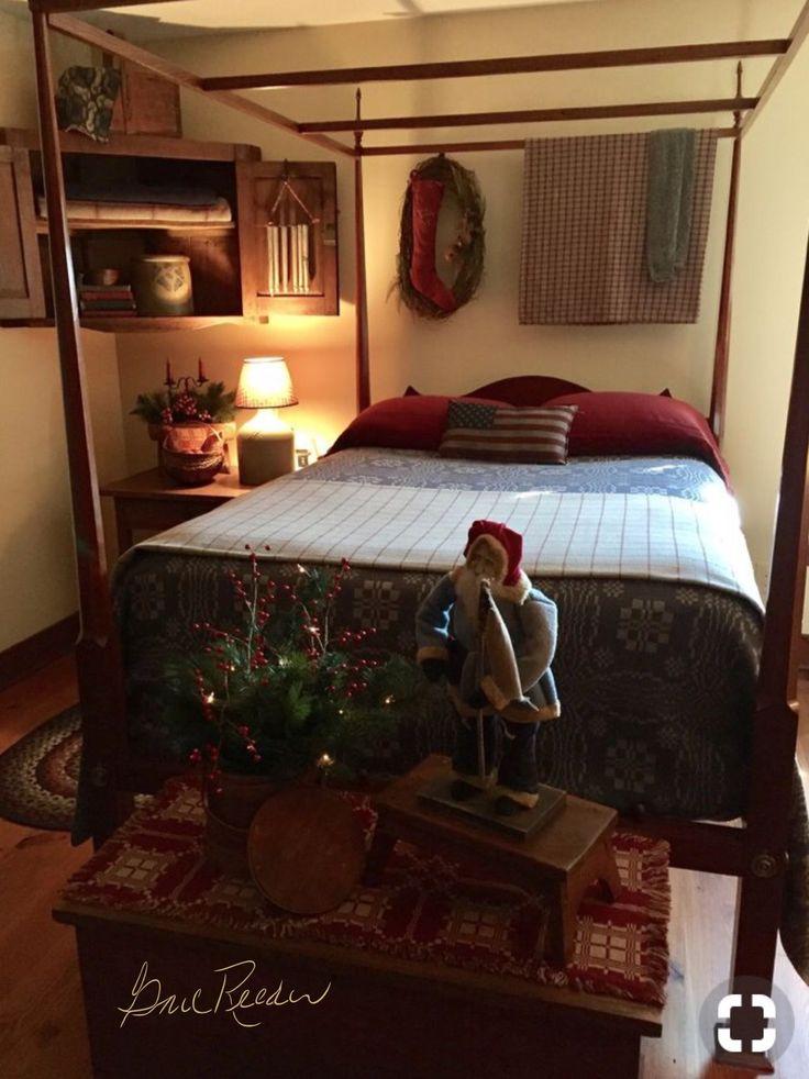 Primitive Bedroom Primitive Homes Primitive Kitchen Primitive Furniture Country Primitive Primitive Decor Rustic Bedrooms Country Bedrooms