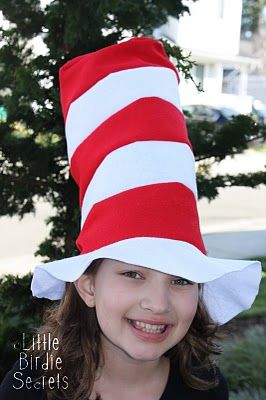 Sewing pattern for Dr. Seuss hats.: Diy'S Tutorials, Free Felt, Hats Tutorials, Felt Patterns, Felt Hats, Cats In Hats, Felt Cats In The Hats, Sewing Tutorials, Sewing Patterns