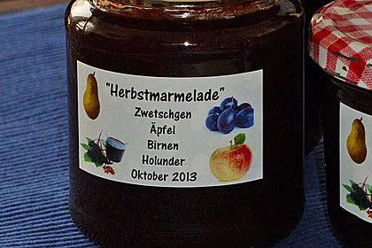 Herbstmarmelade, ein schmackhaftes Rezept aus der Kategorie Herbst. Bewertungen: 69. Durchschnitt: Ø 4,7.