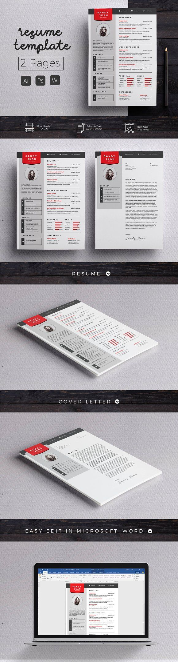 1077 best ? - Design - Resumes images on Pinterest | Resume design ...