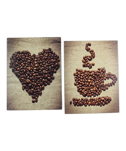 coffee beans wall art set