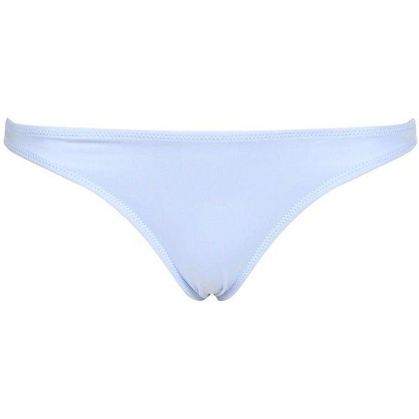 Topshop Clean Bikini Bottoms ($16) ❤ liked on Polyvore featuring swimwear, bikinis, bikini bottoms, pale blue, bikini bottom swimwear, swim bikini bottoms, bottom bikini, topshop swimwear and topshop bikini
