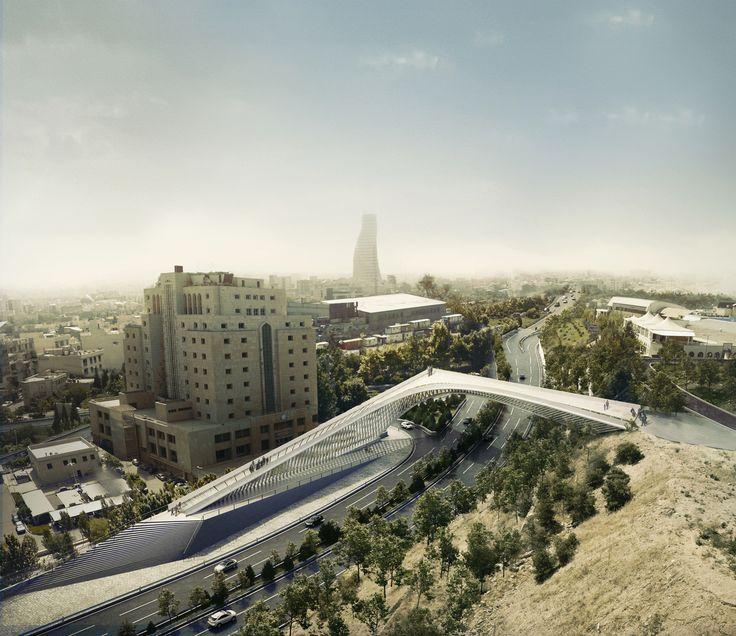 Gallery - 5rd Skin Architects' Haghani Pedestrian Bridge Folds Over Iranian Highway - 2