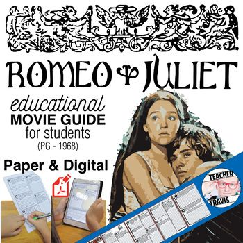 Enliven Shakespeare's classic play with this film for your students. Use this movie guide to create a genuine learning opportunity that may otherwise be viewed and quickly forgotten. Discuss with your students the 14 high-level short answer and essay questions by pausing at the designated times on the movie guide.