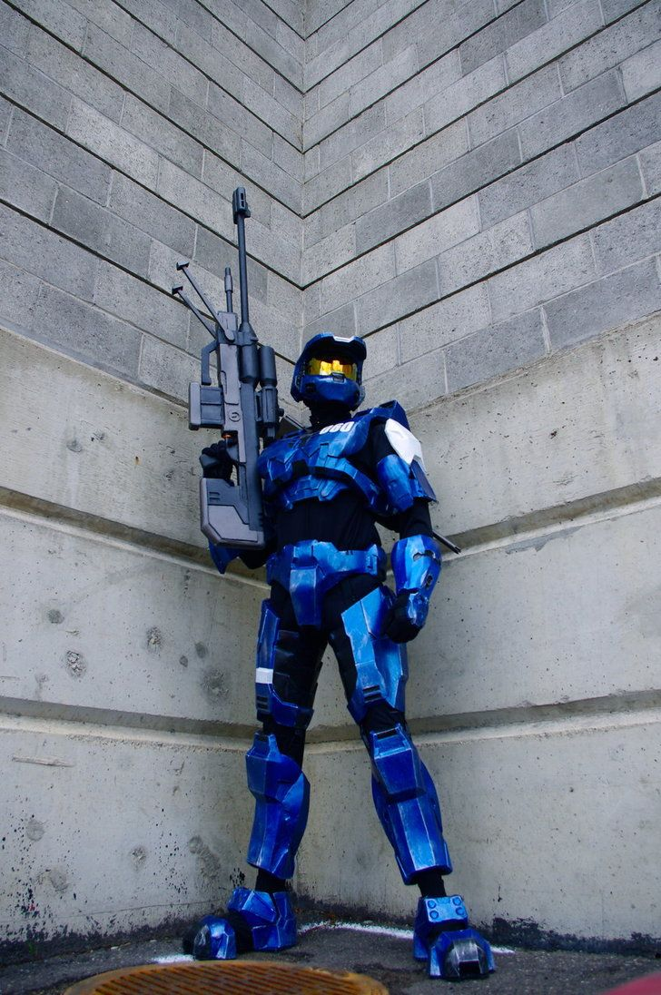 Halo: Halo Armors, Halo Costume, Awesome Cosplay, Spartan Guard, Cosplay Costume, Red Vs Blue, Art Prints, Halo Cosplay, Blue Team