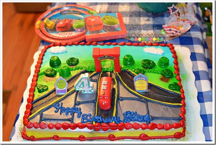 chuggington party cake