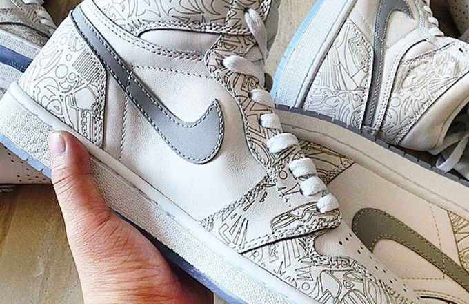 """The best look yet at the Air Jordan 1 Laser """"30th Anniversary"""" sneaker. A release has been speculated for February 2015."""