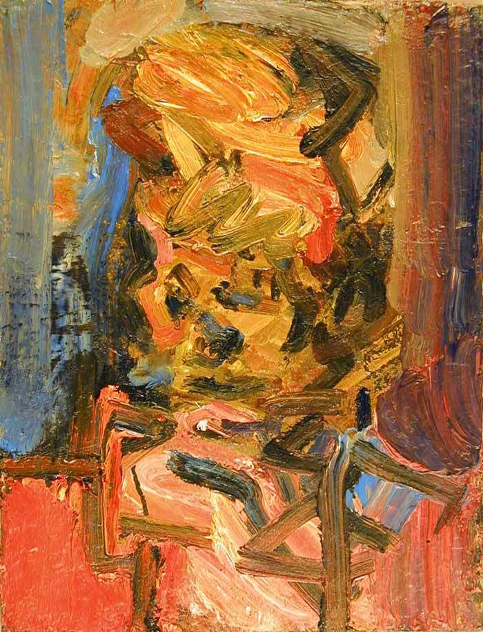 Frank Auerbach - Head of Julia II. Oil on canvas.  In this piece, I like the use of strong brush strokes which helps build up the texture of the artwork.