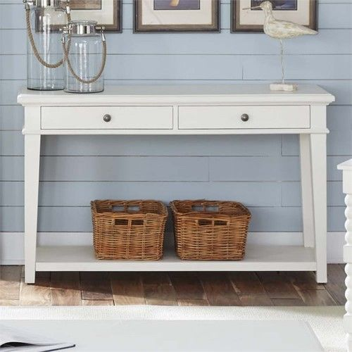 Liberty Furniture Harbor View Console Table In Linen Liberty Furniture White Console Table Console Table