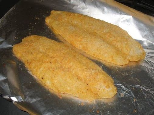 Baked Parmesan Fish smile emoticon heart emoticon it!! Ingredients 1/3 cup grated parmesan cheese 2 tablespoons all-purpose flour... 1/2 teaspoon paprika 1/4 teaspoon salt 1/8 teaspoon pepper 1 egg 2 tablespoons milk 4 (4 ounce) orange roughy fillets or 4 (4 ounce) catfish fillets Directions In a shallow bowl combine the parmesan cheese, flour, paprika, salt and pepper. In another bowl beat the egg and milk. Dip fish fillets into egg mixture then coat with parmesan mixture. Arrange in a…