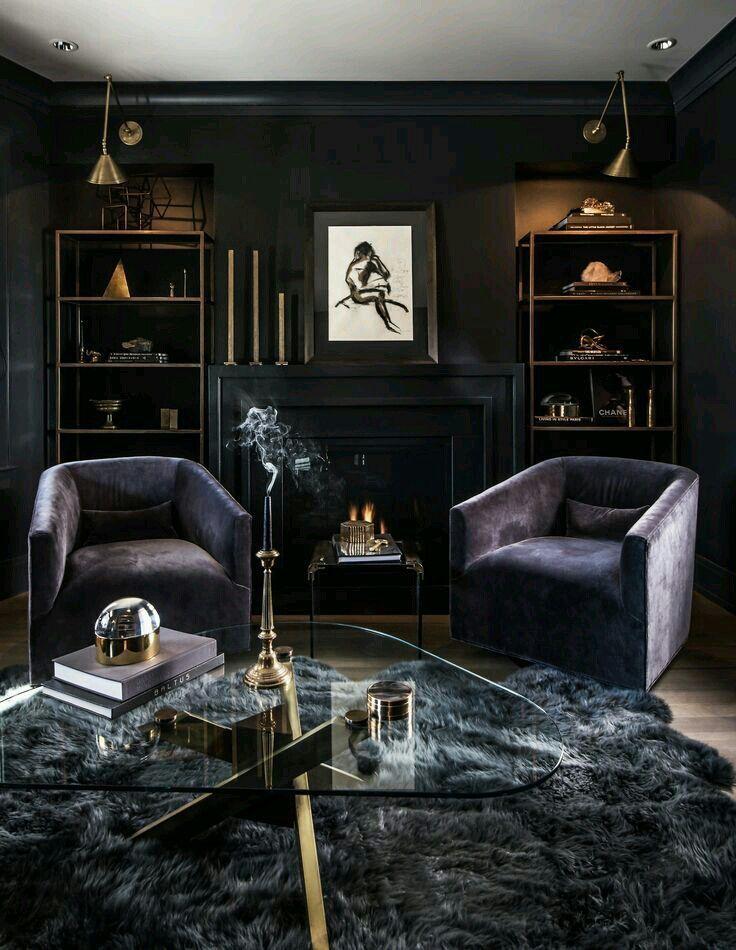 Stuck With Mafia 35 Dark Living Rooms Moody Living Room Art Deco Living Room Dark colors old living room