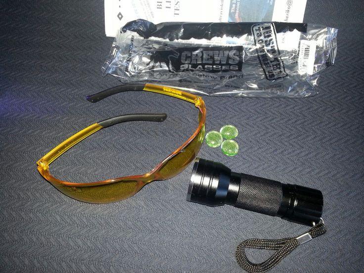 Hvac auto leak detector set 21 led uv black light