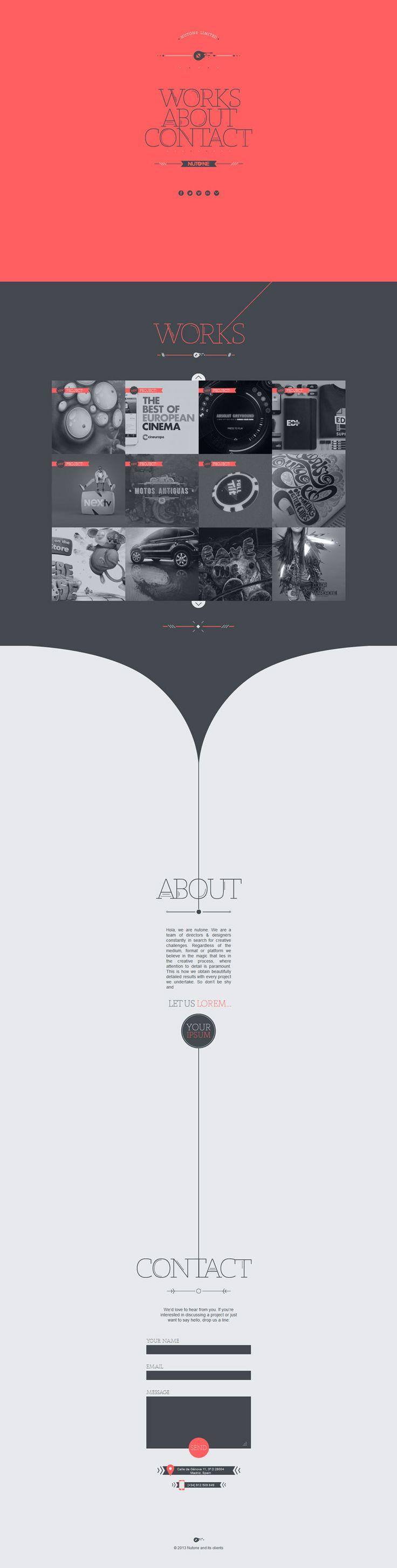 Nutone - Flat Design Website