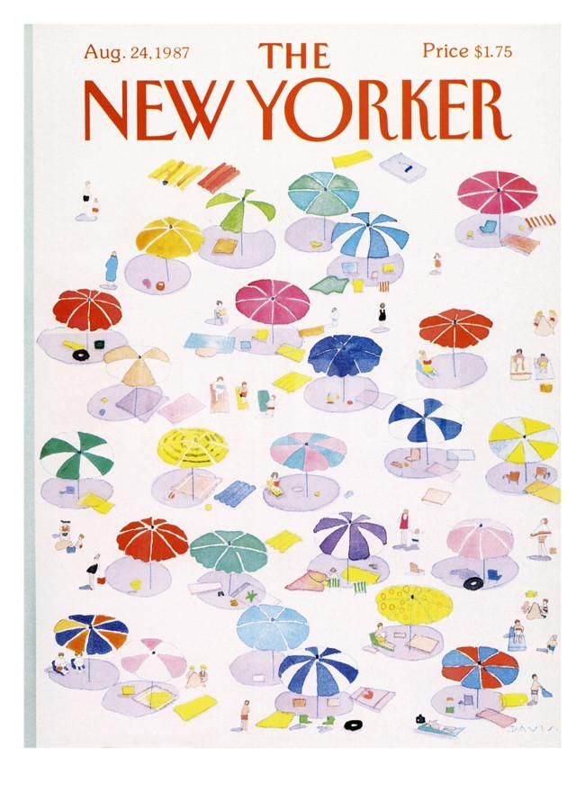 The New Yorker Cover - August 24, 1987 Regular Giclee Print by Susan Davis at Art.com