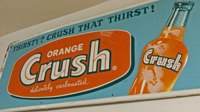 Vintage Advertising Signs | VINTAGE ORANGE CRUSH SODA ADVERTISING SIGN | Flickr - Photo Sharing!