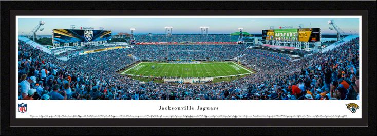 Jacksonville Jaguars Panoramic Picture - EverBank Field - Matted Frame $149.95