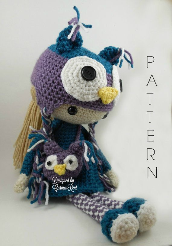Claire Amigurumi Doll Crochet Pattern by CarmenRent on Etsy ♡