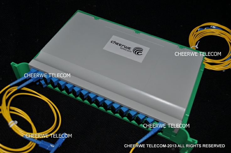 16 Fiber Modular Splitter PLC