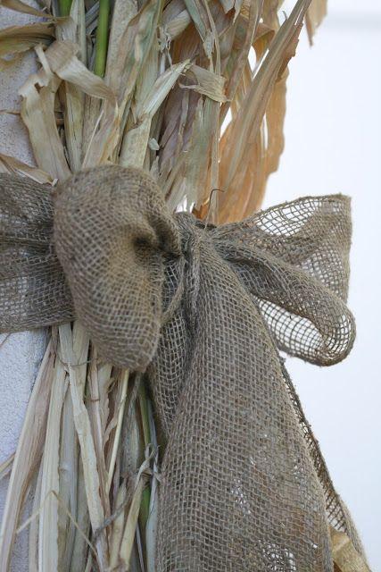 Corn stalks and burlap, Nob Hill