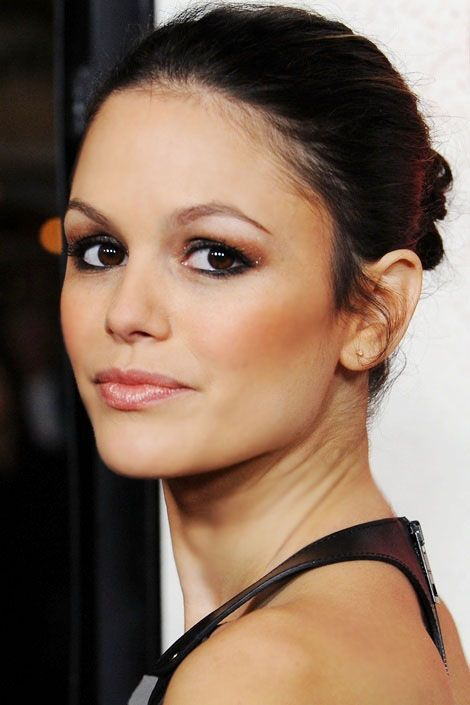 Rachel Bilson. Simple Up-do. Very Chic.  #HairStyleInspiration  #MarkSlickerSalon  www.markslickersalon.com