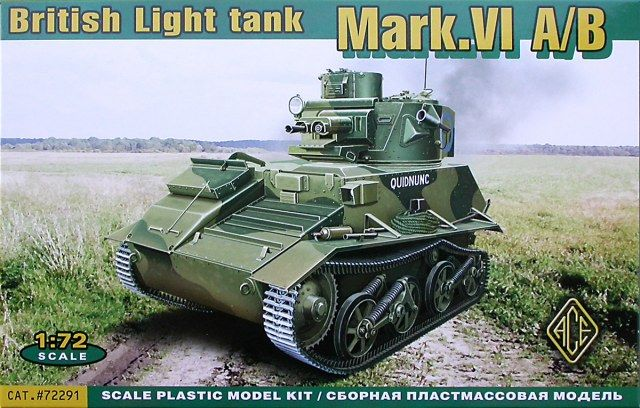 Vickers Mark.VIA / Mark.VIB, British Light Tank. Ace, 1/72, initial release 2012, No.72291. Price: 12,22 EUR (marketplace).