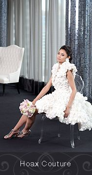 Made by Hoax Couture (Chris Tyrell and Jim Searle) out of Cashmere Bathroom Tissue for the 2015 White Cashmere Collection Bridal Edition in support of the Canadian Breast Cancer Foundation. The show this year focused on the hottest wedding trends and bridal silhouettes. @hoaxcouture @cashmerecanada  http://hoaxcouture.com/core/