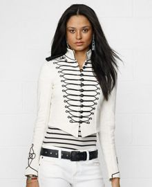 Denim and Supply Ralph Lauren Embroidered Cropped Military Jacket - Jackets and Blazers - Women - Macys at Macys