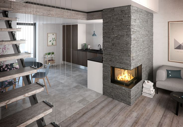 The #Visio #fireplace from #RAIS has a unique ability to make any #livingroom #cozy and #warm. Ideel for #fall and #winther.