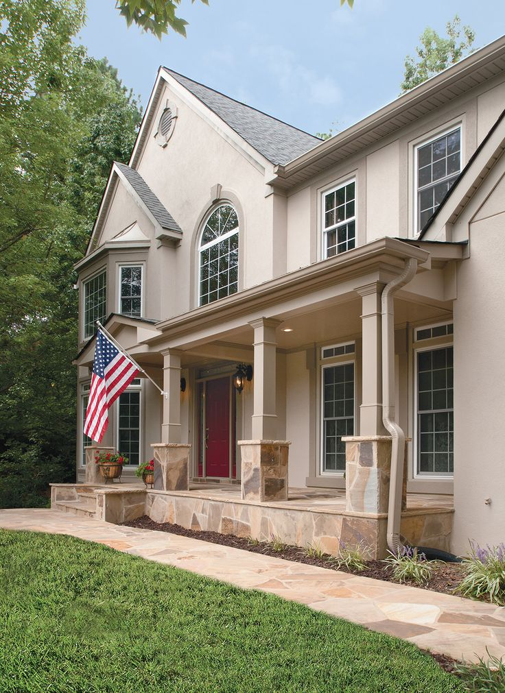 36 best images about traditional front porch on pinterest for Stucco columns