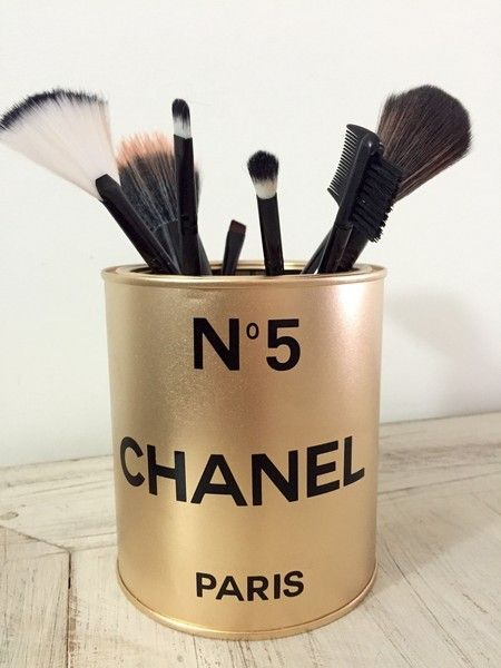 Porta pincel Inspired N5 Chanel Gold | R$39,90