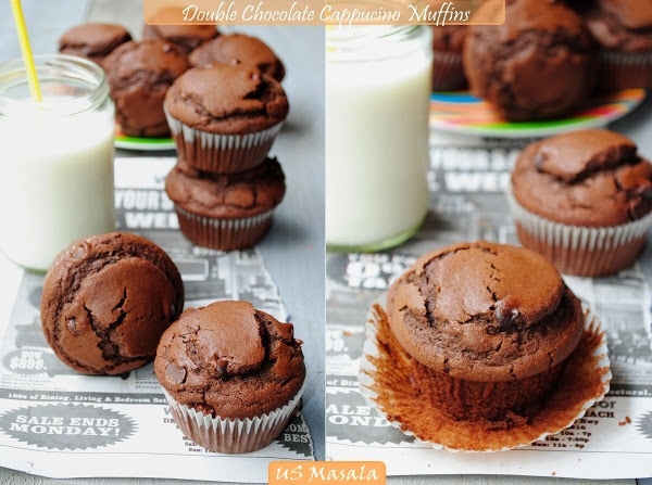 US Masala: Double Dark Chocolate Cappuccino Muffins (Eggless and Whole ...
