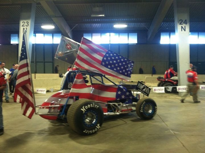 Support the troops! Sprint car racing style!