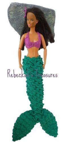 Crochet Barbie Mermaid by Rebeckah's Treasures