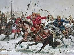 ARTICULO 3 - 03 - Los greutungos estuvieron sometidos a los hunos desde el 375, año en que vencieron a su rey Hermanarico, hasta la batalla de Nedao, ocurrida en el año 454, cuando recobraron su independencia. Los ostrogodos, como pasaron a denominarse, se establecieron como un pueblo federado de Roma.