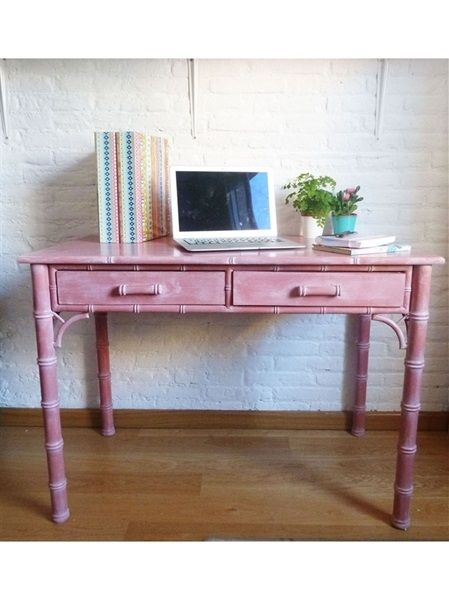 L'atelier de Papillon - Customization of a desk with chalk paint