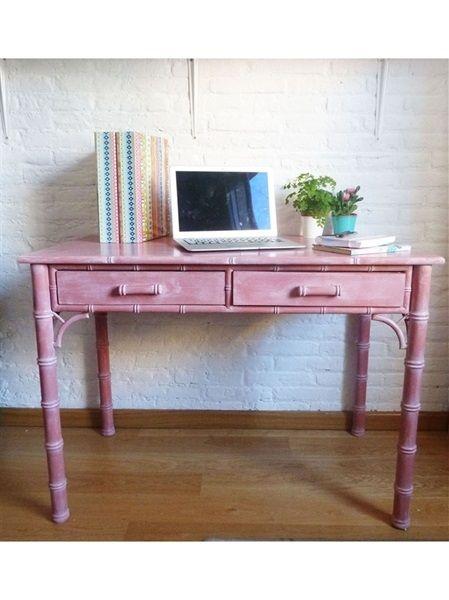 L'atelier de Papillon - Customization of a desk with chalk paint
