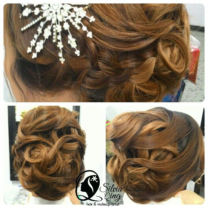 Hairdo by SilviaqingMUA, vintage, amazing hair color
