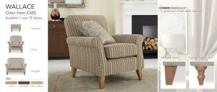 checked/tweed snuggle chair