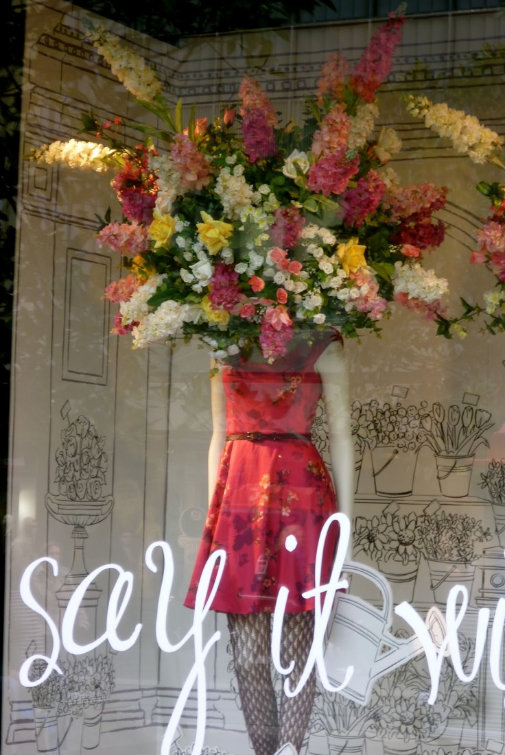 Myers say it with flowers window Melbourne