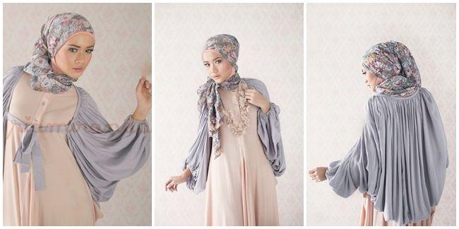 Fashion: 10 Inspirasi Gaya Hijab Ria Miranda, Lembut Tapi Powerful - Riamiranda: Baloon Cardigans | Vemale.com