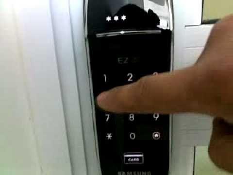 Fechadura Especiais Samsung com senha e cartão para porta de correr