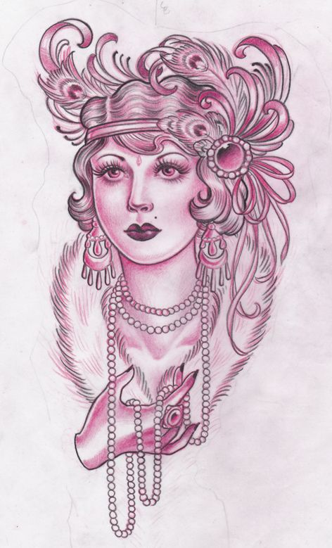 flapper tattoo | Posted by Amy Duncan at 9:55 PM