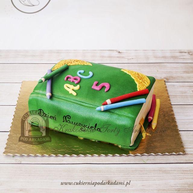 156BA Tort książka na Dzień Nauczyciela. Education Day cake.