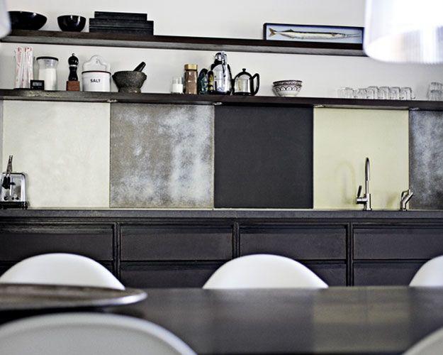 Made a Mano kitchen: Open Shelves, Interiors Design Kitchens, Back Splash, Kitchens Tile, Subway Tile, Kitchens Ideas, Kitchens Backsplash, Kitchens Cabinets, Great Kitchens